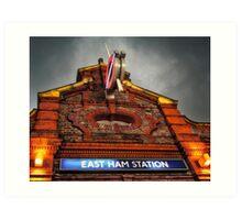 East Ham Tube Station Art Print