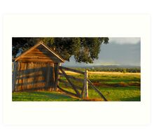 Old barn View Art Print