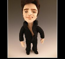 Li'l Elvis - Needle Felted Art Doll by feltalive