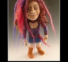 Li'l Janice - Needle Felted Art Doll by feltalive