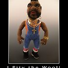 Li'l Mr. T - Needle Felted Art Doll by feltalive