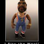 Li'l Mr. T - Needle Felted Art Doll by feltalive