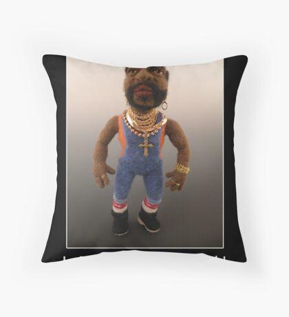 Li'l Mr. T - Needle Felted Art Doll Throw Pillow