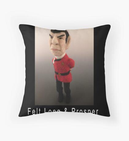 Li'l Spock - Needle Felted Art Doll Throw Pillow