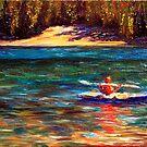 Oregon Cascade Lake Kayaker by sesillie
