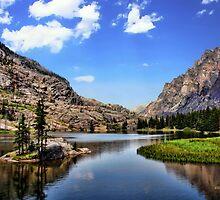 Elk Lake, Beartooth Mountains, Montana by James Larson