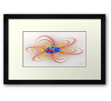 'Light Flame Abstract 198a' Framed Print