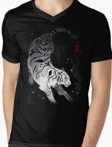 Candle Flies Tiger Mens V-Neck T-Shirt