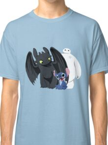 Toothless,Stitch and Baymax Classic T-Shirt