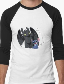 Toothless,Stitch and Baymax Men's Baseball ¾ T-Shirt