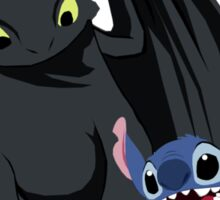 Toothless,Stitch and Baymax Sticker
