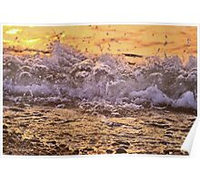 Sunset in the Waves Poster