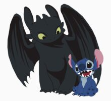 Stitch and Toothless Kids Tee