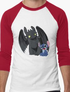 Stitch and Toothless Men's Baseball ¾ T-Shirt