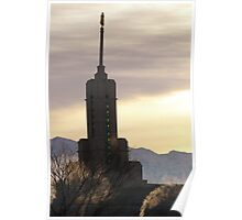 Mount Timpanogos Temple - Cold Winter Day Poster