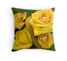 Basket Full of Roses Throw Pillow