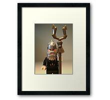 Mongolian Warrior Chief Custom Minifigure Framed Print