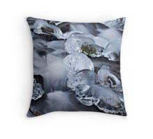 Winter at Wahkeena Falls Throw Pillow