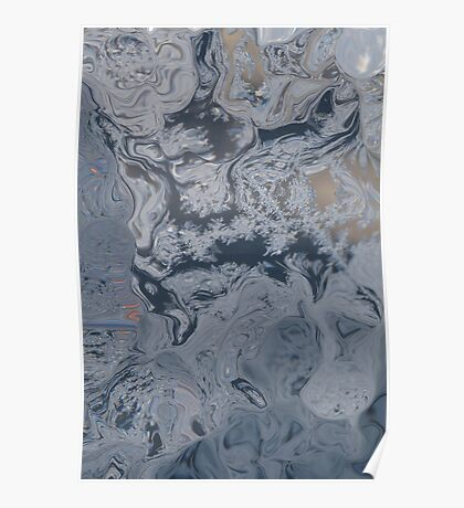 Window Winter Frost Abstract I  Poster