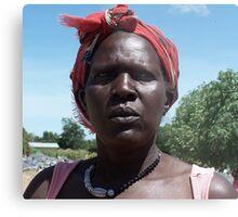 Gulu quarry woman, Uganda Metal Print