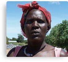 Gulu quarry woman, Uganda Canvas Print