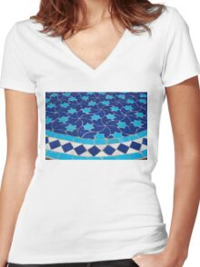 Traditional Oriental Art Women's Fitted V-Neck T-Shirt