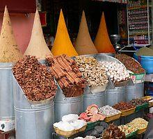 Spice shop in Marrakech, Morroco by klickerFotoz