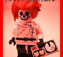 Happy Birthday Greeting Card Professor Boom  by Customize My Minifig