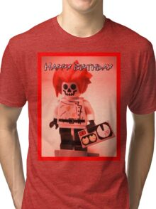 Happy Birthday Greeting Card Professor Boom  Tri-blend T-Shirt