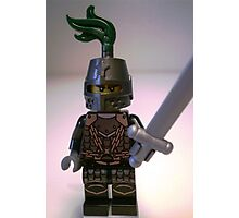 Dragon Knight Minifigure with Scale Mail with Chains, Helmet Closed, & green plume  Photographic Print