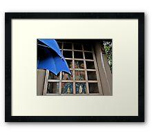 Old Samurai Sheltered from the Rain Framed Print