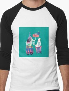 Fun Circus Elephant Men's Baseball ¾ T-Shirt