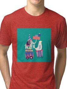 Fun Circus Elephant Tri-blend T-Shirt