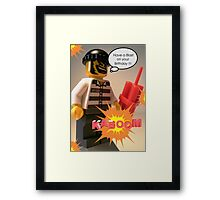 Have a Blast on Your Birthday Greeting Card Framed Print