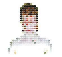 David Bowie Aladdin Sane Dots  Photographic Print