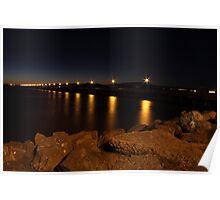 Night Lights of Berkeley Pier Poster