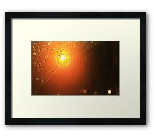 Traffic Lights And Rain - Amber Framed Print