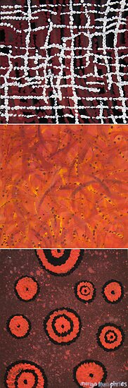Orangeshed triptych part a, b & c by Margo Humphries