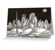 Winter Wonderland Evening Greeting Card