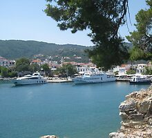 Skiathos harbour, Greece. by Keithydee