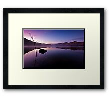 Dawn over Derwent water Framed Print