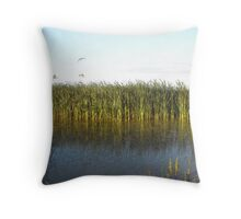 Sunrise Wetlands and grasses Williamstown Rifle Range Throw Pillow