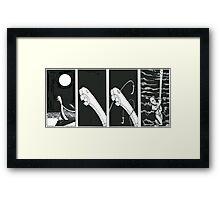 "VIKINGS ""the beach and the moon "" Framed Print"