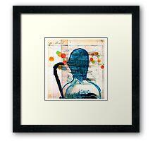 buste masculin bleu Framed Print