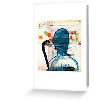 buste masculin bleu Greeting Card