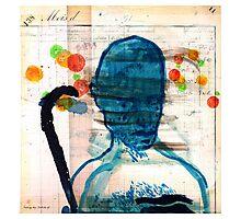 buste masculin bleu Photographic Print