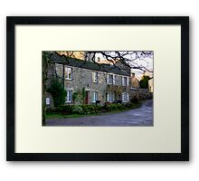 West Burton Cottages Framed Print