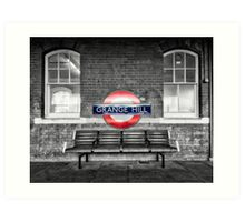 Grange Hill Tube Station Art Print