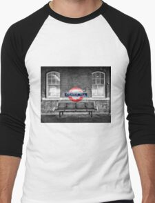 Grange Hill Tube Station Men's Baseball ¾ T-Shirt