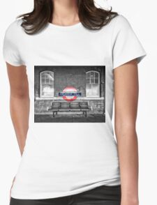 Grange Hill Tube Station Womens Fitted T-Shirt